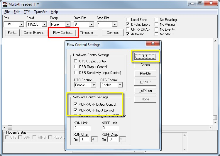 MTTTY Serial Terminal - NetBurner