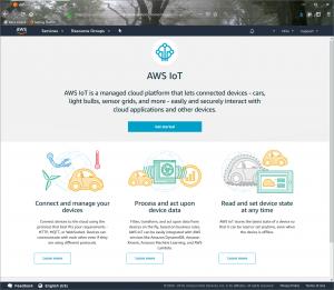 Figure 2: IoT Landing Screen