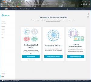 Figure 3: IoT Core Welcome Screen