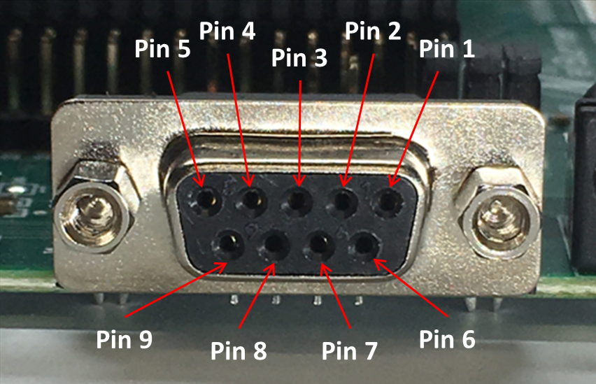 Labeled Female DB9 Connection