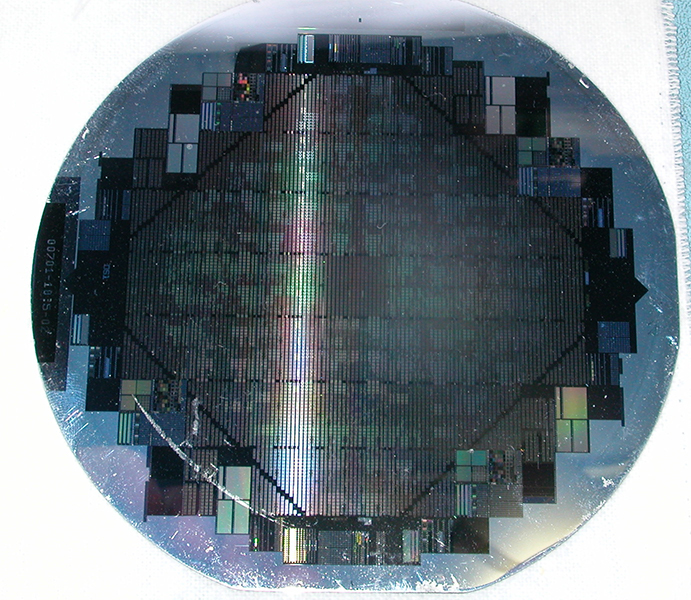 A wafer-scale integrated system. (Source: Wikimedia)